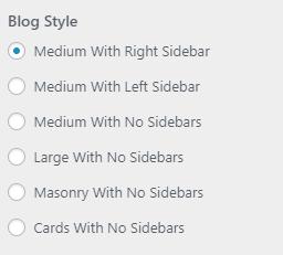 blog style setting