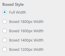 boxed style setting