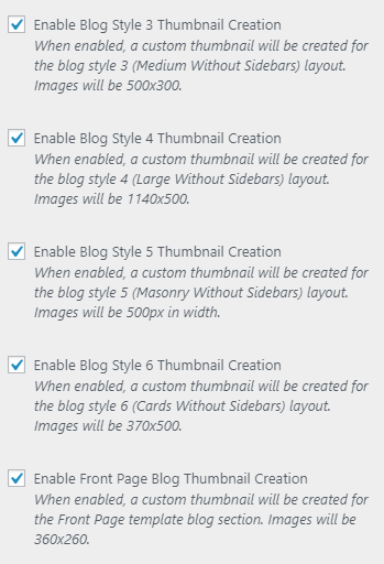 enable thumbnail creation settings