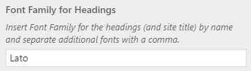 headings font setting
