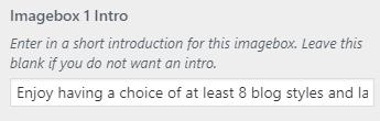 imagebox intro setting