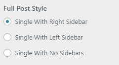 single style setting