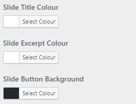slider colour settings