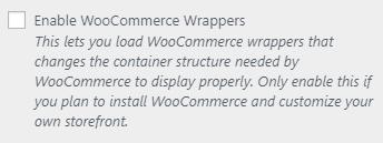 woocommerce setting