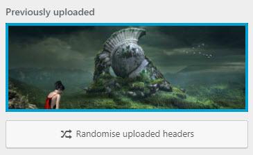 equable custom header randomize