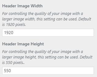 matin custom header image size