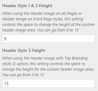 matin header height setting
