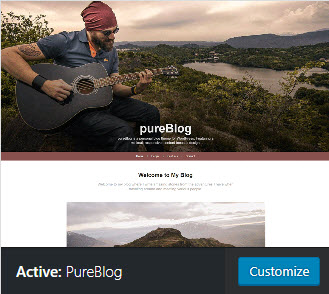 pureblog active theme