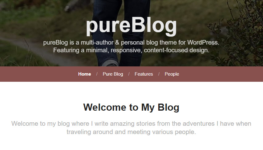 pureblog blog heading group
