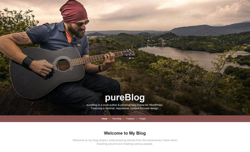 pureblog custom header