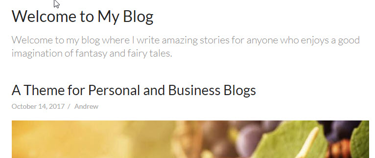 bright blog heading