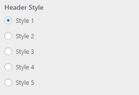 bright header style setting