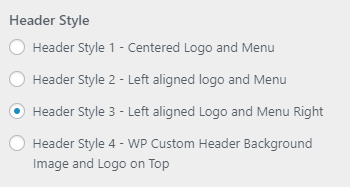 pm header styles setting