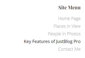 jb menu widget