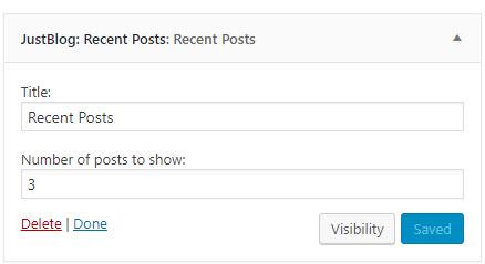 jb recent posts settings