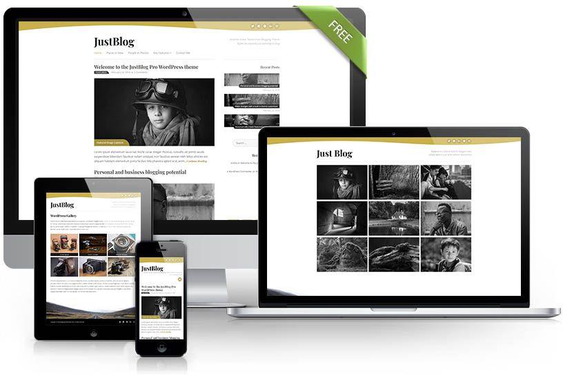 JustBlog free theme