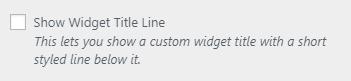 bw show widget style
