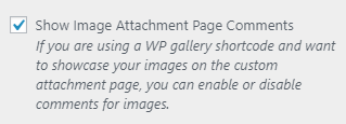 sp wp gallery comments setting
