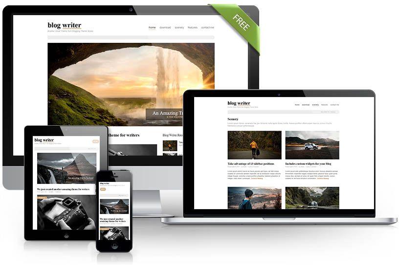 Blog Writer free theme