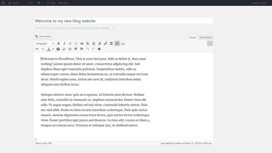 wp editor distraction free writing