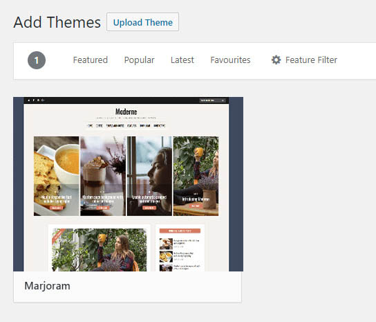 m new theme search results