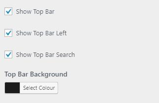 m topbar setting