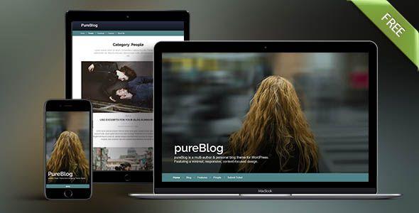PureBlog free theme