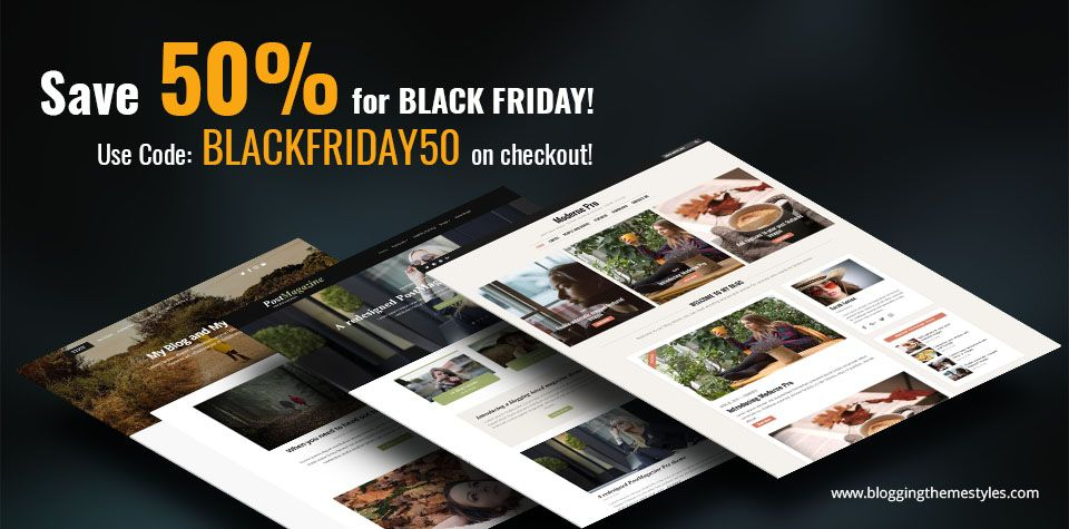 Black Friday WordPress theme special