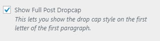 Simplified Pro dropcap setting