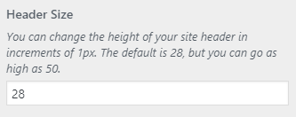 Simplified Pro Header Size