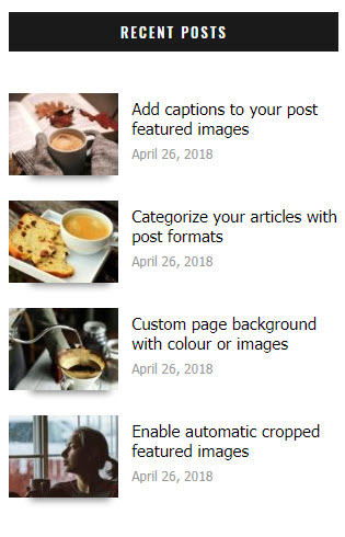 Simplified Pro recent posts widget