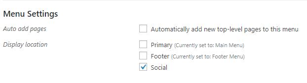 Simplified Pro Social Menu Location