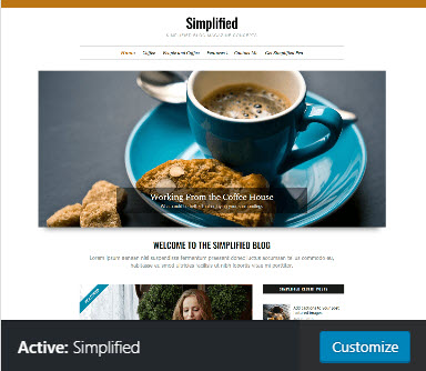Simplified active theme