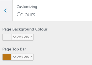 Simplified colour settings