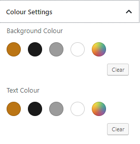 Simplified Gutenberg colours