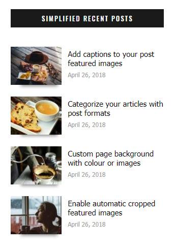 Simplified Recent Posts widget
