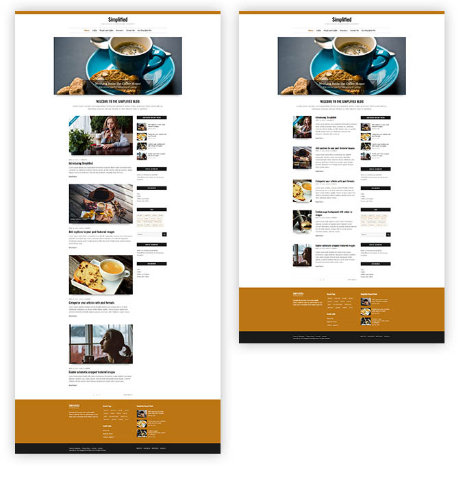 simplified blog layouts