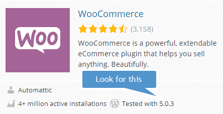 Woocommerce WordPress 5 compatibility