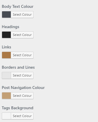 Blogg Pro colour settings