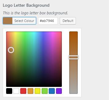 Blogg Pro colour selector